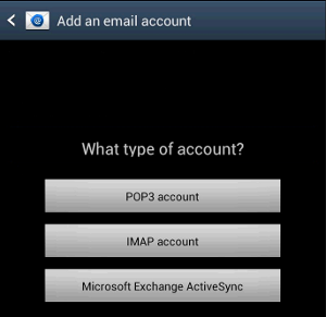 Android - Add an email account