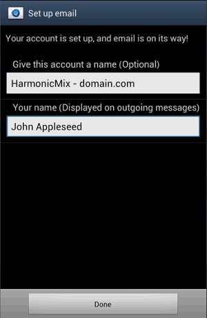 Android - Setup email